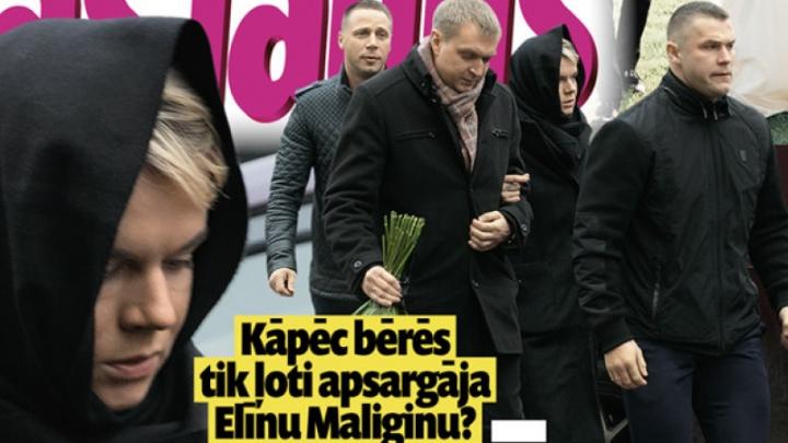 Kāpēc aktrisi Elīnu Dzelmi-Maliginu vīra bērēs tik ļoti apsargāja? No kā jābaidās?