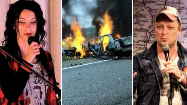 Krievijas šovbizness sēro. Faktiski dzīvi sadega. THT šova Stand Up aktieri traģiskajā autoavārijā bija iesprostoti liesmojošajā auto