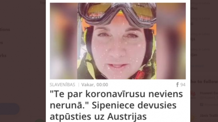 Tauta šokā par Sipenieces augstprātīgo bravūru slēpojot kalnos, kur simtiem Covid-19 saslimušo