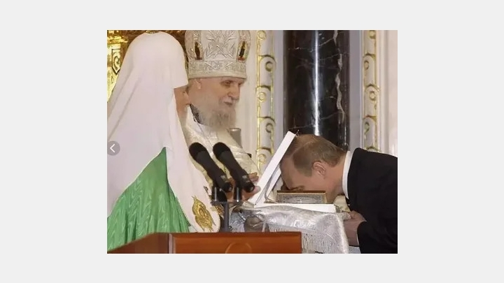Russia's coronavirus cases rising, but the Orthodox church holds to traditions such as kissing icons