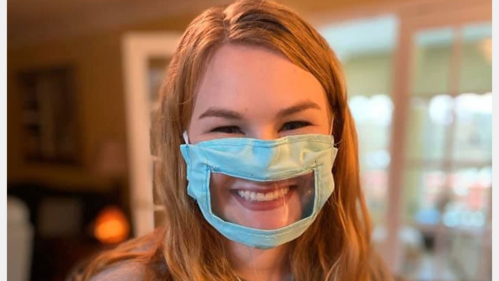 PHOTO: Student Designs Coronavirus Face Masks For Deaf And Hard Of Hearing People