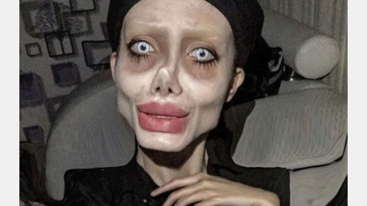 Shocking! Zombie version of Angelina Jolie probably is on a ventilator