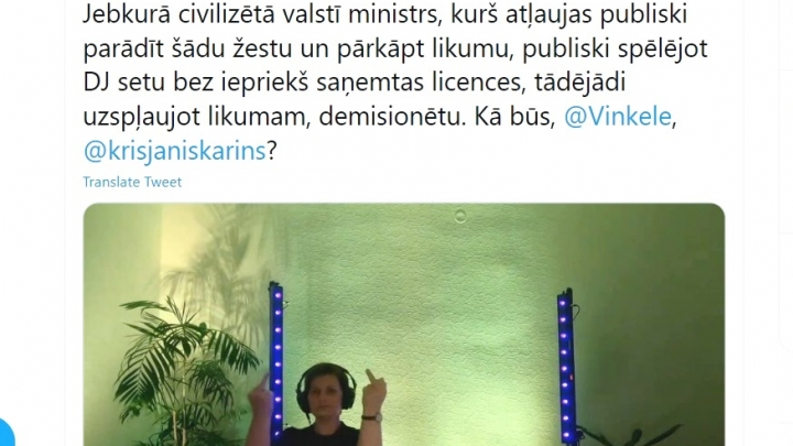 Ilze Viņķele nācijai nekaunīgi parāda vidējos pirkstus. Kivičs ārdās un 'uzcep' nosodījuma dziesmu ministrei