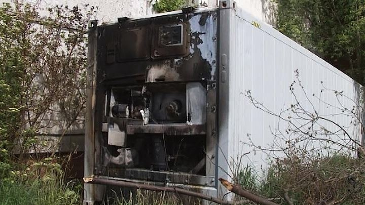 Shocking! A container with the corpses of COVID-19 sick people burned down in St. Petersburg
