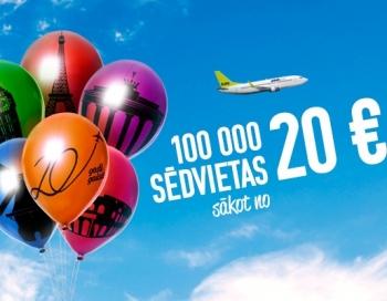 Vēl tikai 5 dienas AirBaltic biļetes par supercenām
