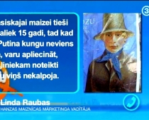 Uz latviešu maizes attēlota Vladimira Putina seja