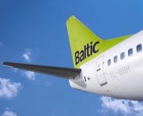 airBaltic Rīgā uzņem Bombardier CSeries lidmašīnu